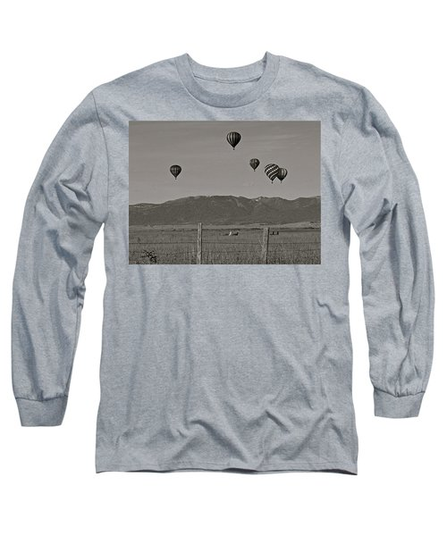 Long Sleeve T-Shirt featuring the photograph Unconcerned Lamas by Eric Tressler