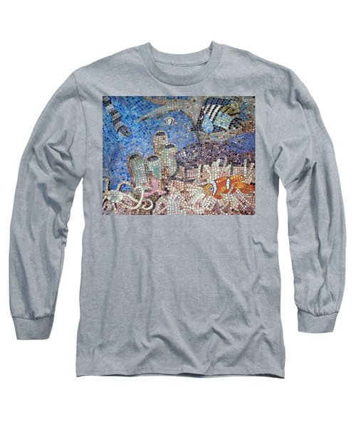 Long Sleeve T-Shirt featuring the painting Under The Sea by Cynthia Amaral