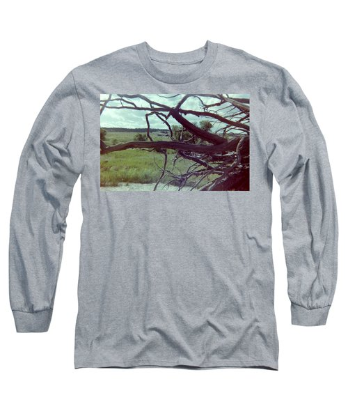Long Sleeve T-Shirt featuring the photograph Uprooted by Bonfire Photography