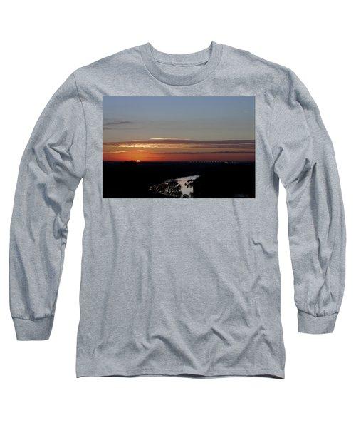 Long Sleeve T-Shirt featuring the photograph Vanishing Sunset by Maj Seda