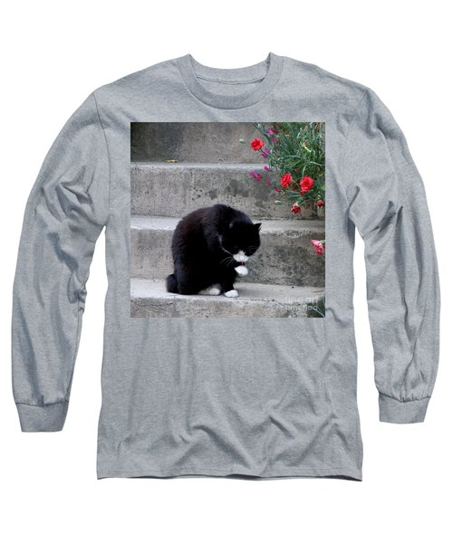 Long Sleeve T-Shirt featuring the photograph Washing Up by Lainie Wrightson