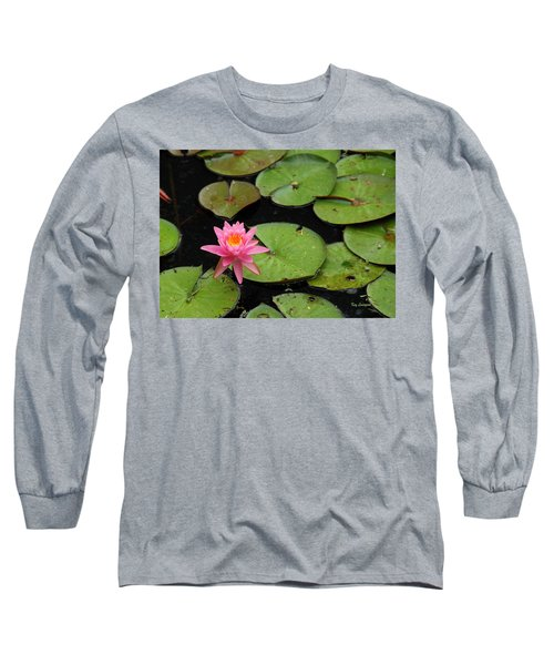 Long Sleeve T-Shirt featuring the photograph Water Lily by Kay Lovingood