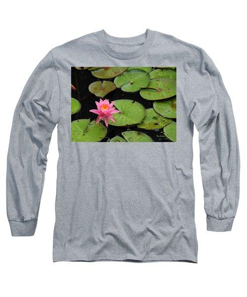 Water Lily Long Sleeve T-Shirt by Kay Lovingood