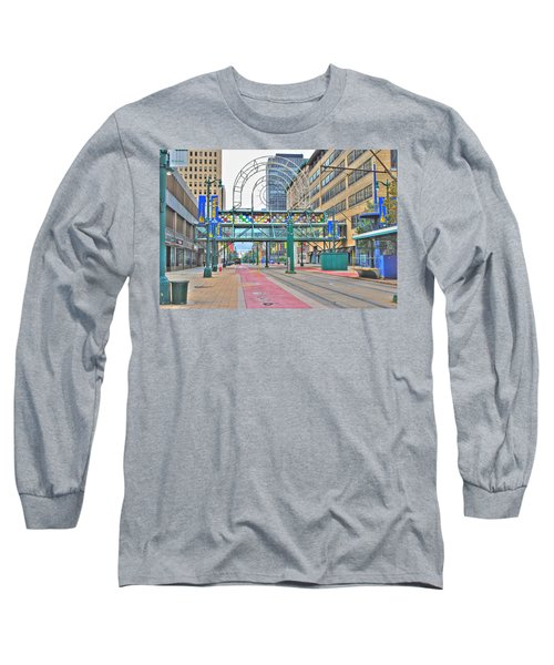 Long Sleeve T-Shirt featuring the photograph Welcome No 2 by Michael Frank Jr
