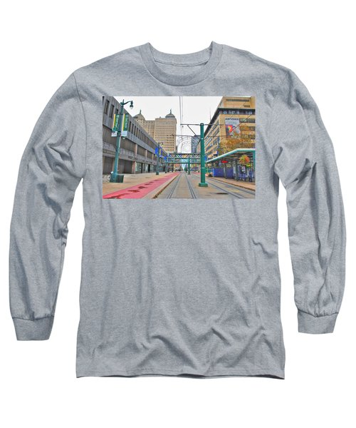 Long Sleeve T-Shirt featuring the photograph Welcome To Dt Buffalo by Michael Frank Jr