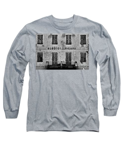 Long Sleeve T-Shirt featuring the photograph Welcome To The Hotel Milano by Andy Prendy
