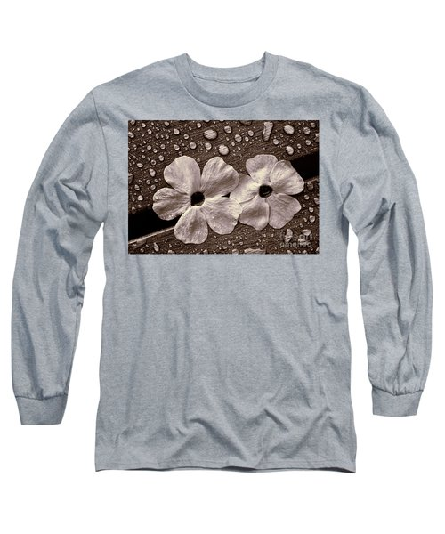 Wet Flowers And Wet Table Long Sleeve T-Shirt