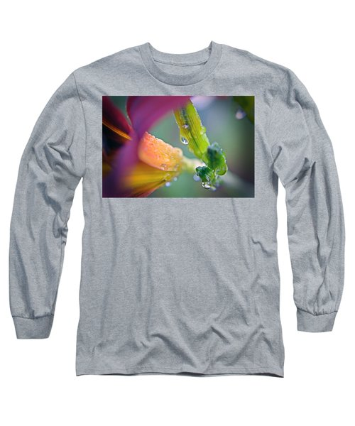 Long Sleeve T-Shirt featuring the photograph Wet Lily by Susan Leggett