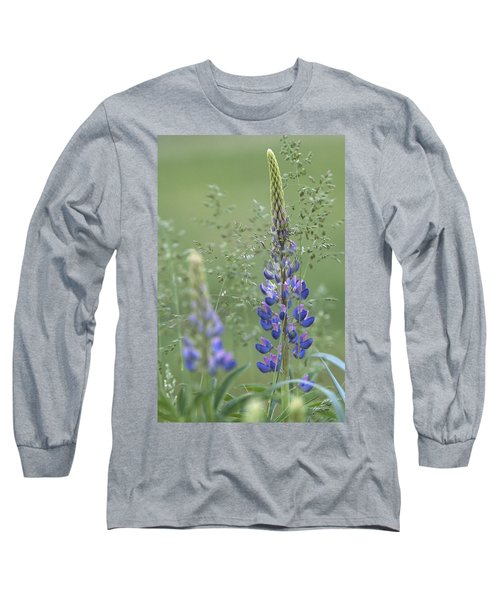 Wild Lupine Flower Long Sleeve T-Shirt