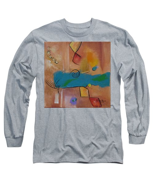 Long Sleeve T-Shirt featuring the painting Wild Wild West by Judith Rhue