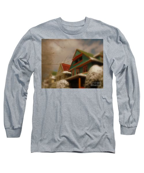 Winter On Rugby Road Long Sleeve T-Shirt by Mark Gilman