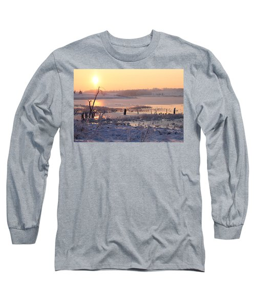 Long Sleeve T-Shirt featuring the photograph Winter's Morning by Elizabeth Winter
