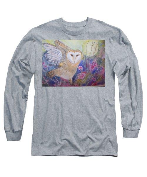 Wise Moon Long Sleeve T-Shirt by Belinda Lawson