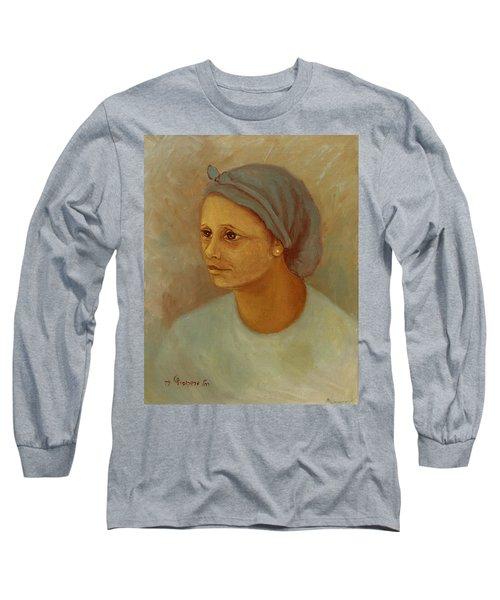 Working Woman Long Sleeve T-Shirt by Rachel Hershkovitz