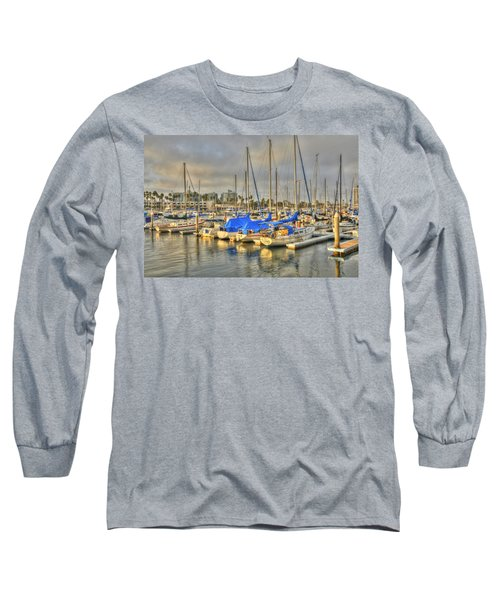 Yachts On A Lazy Afternoon Long Sleeve T-Shirt