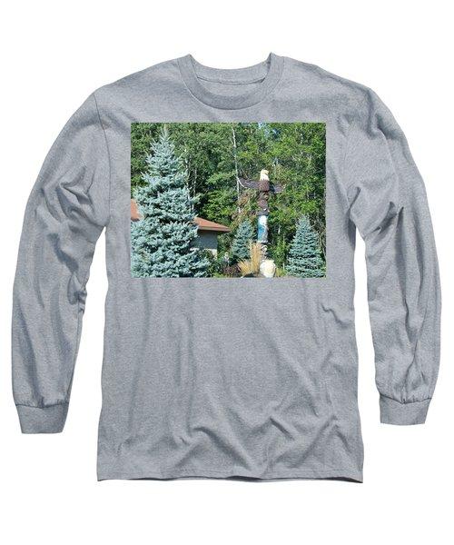 Yard Totem Long Sleeve T-Shirt by Pamela Walrath