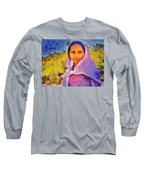 Young Moroccan Girl Long Sleeve T-Shirt