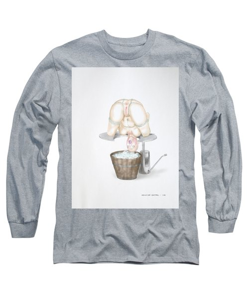 Long Sleeve T-Shirt featuring the mixed media  Behavior Control by TortureLord Art
