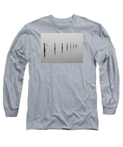 Fog And Reflections Long Sleeve T-Shirt by Christina Lihani