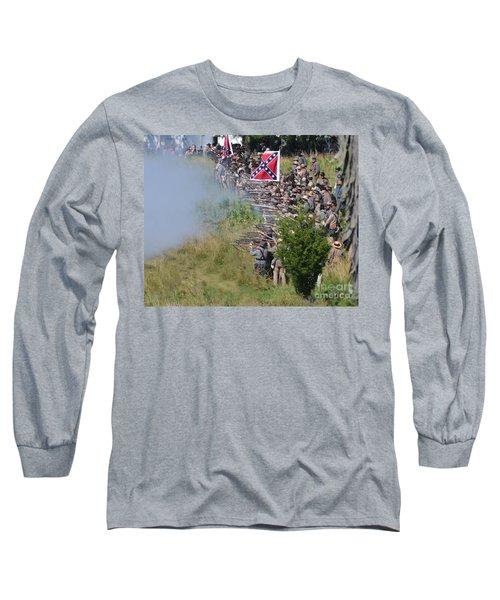 Gettysburg Confederate Infantry 8769c Long Sleeve T-Shirt