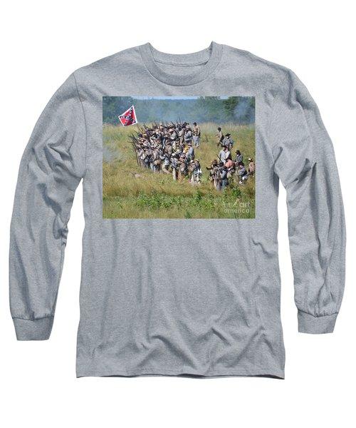 Gettysburg Confederate Infantry 9015c Long Sleeve T-Shirt