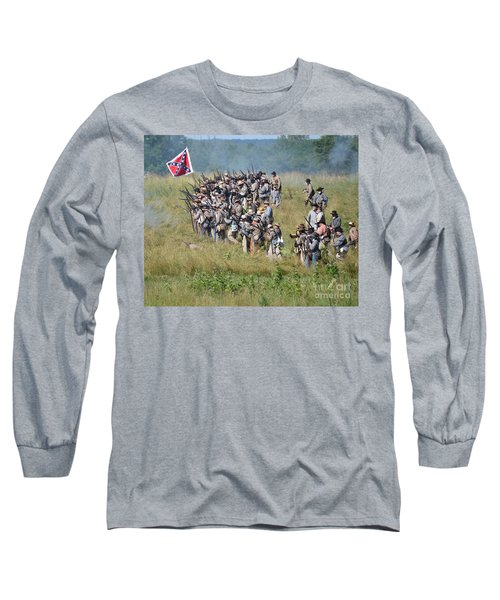 Gettysburg Confederate Infantry 9015c Long Sleeve T-Shirt