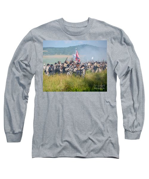 Gettysburg Confederate Infantry 9214c Long Sleeve T-Shirt