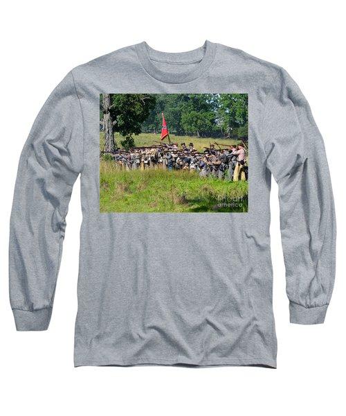Gettysburg Confederate Infantry 9270c Long Sleeve T-Shirt