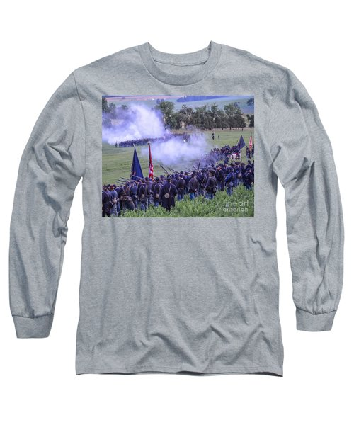 Gettysburg Union Artillery And Infantry 7496c Long Sleeve T-Shirt