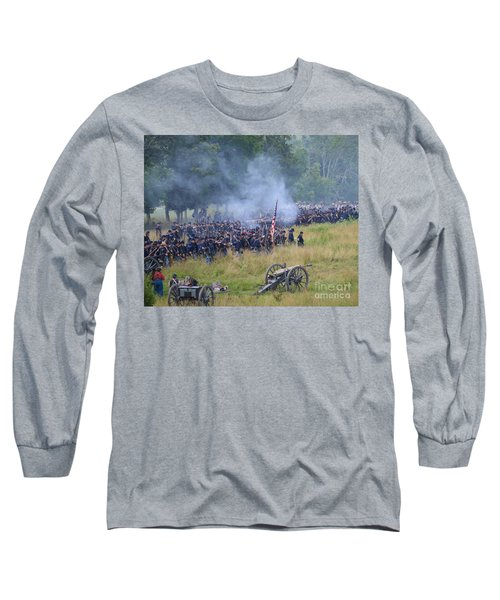 Gettysburg Union Artillery And Infantry 8456c Long Sleeve T-Shirt