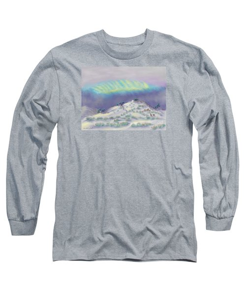 Peaceful Snowy Sunrise Long Sleeve T-Shirt