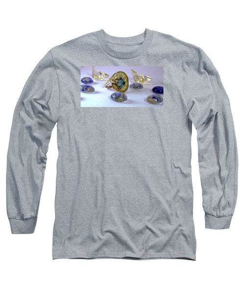 Rhapsody In Blue Long Sleeve T-Shirt by Mikhail Savchenko