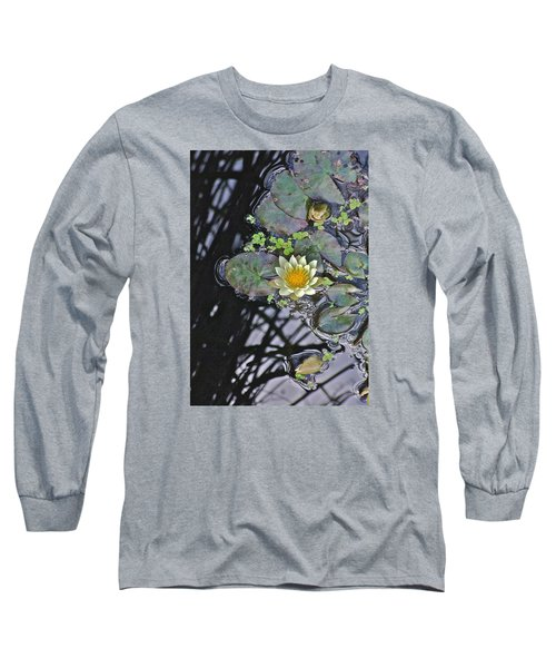September White Water Lily Long Sleeve T-Shirt by Janis Nussbaum Senungetuk