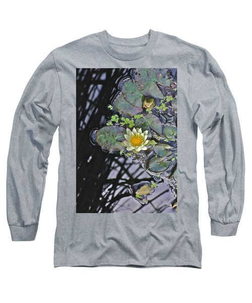 September White Water Lily Long Sleeve T-Shirt