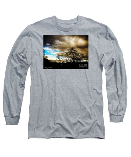 Storm  Coming  Long Sleeve T-Shirt by MaryLee Parker