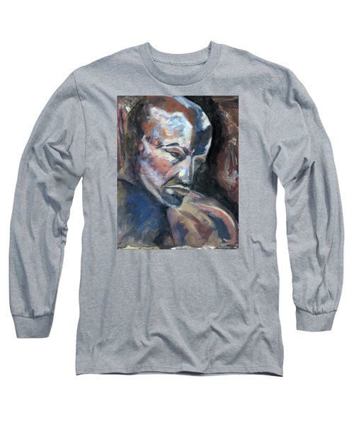 Long Sleeve T-Shirt featuring the painting 01323 Thinker by AnneKarin Glass