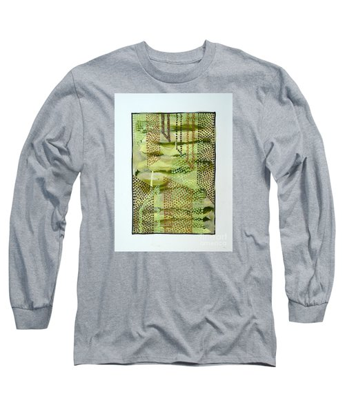 Long Sleeve T-Shirt featuring the painting 01328 Slide by AnneKarin Glass