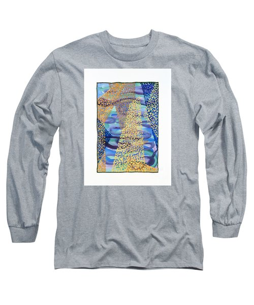 Long Sleeve T-Shirt featuring the painting 01331 Rise by AnneKarin Glass
