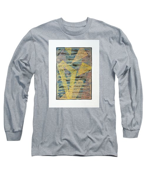 Long Sleeve T-Shirt featuring the painting 01333 Left by AnneKarin Glass