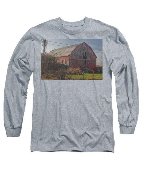 0153 - Dodge Road Red I Long Sleeve T-Shirt
