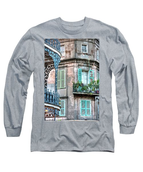 0254 French Quarter 10 - New Orleans Long Sleeve T-Shirt