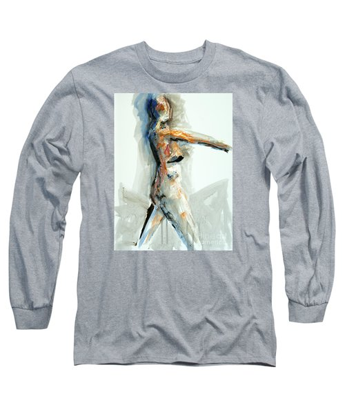 Long Sleeve T-Shirt featuring the painting 04951 Onward by AnneKarin Glass