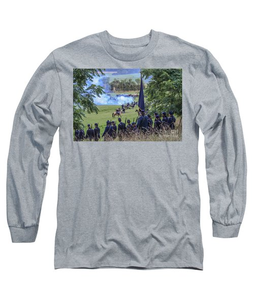 Gettysburg Union Artillery And Infantry 7457c Long Sleeve T-Shirt
