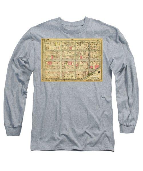 1927 Inwood Map  Long Sleeve T-Shirt