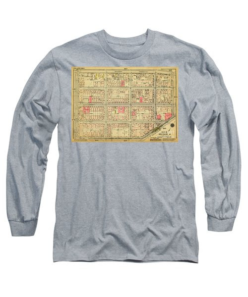 1927 Inwood Map  Long Sleeve T-Shirt