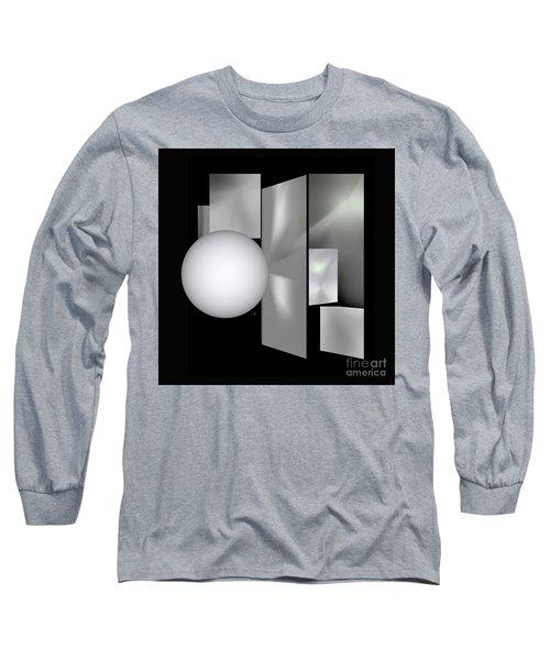 Long Sleeve T-Shirt featuring the digital art 1-2017 by John Krakora