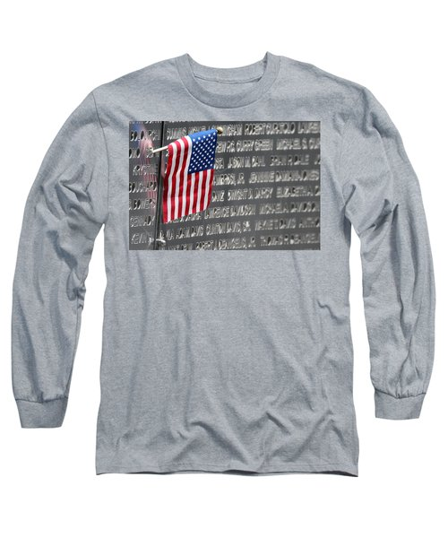 9 11 Memorial Rocky Point New York Long Sleeve T-Shirt by Bob Savage