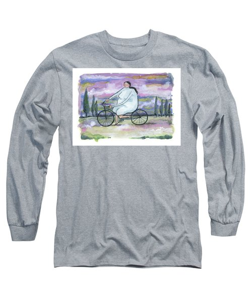 Long Sleeve T-Shirt featuring the painting A Beautiful Day For A Ride by Leanne WILKES