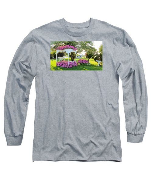 A Bed Of Flowers Long Sleeve T-Shirt by Jeanette Oberholtzer