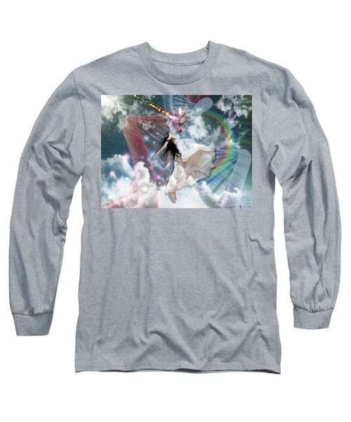 Long Sleeve T-Shirt featuring the digital art A New Heart by Dolores Develde